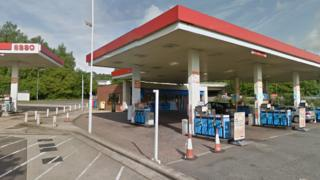 Rownhams Services westbound petrol station