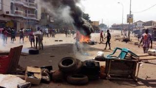 La violence a secoué les rues de Conakry, comme ici dans le quartier de Bambeto, à Conakry