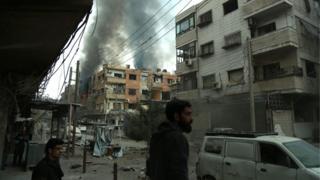 Shelling in Douma