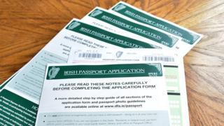 Irish passport applications