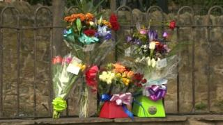 Flower tributes