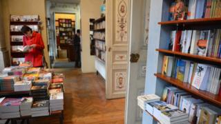 File picture of a Bucharest bookshop