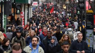 Sales shoppers on Oxford Street