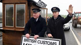 Irish border protest