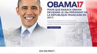 Une pétition veut élire Obama président de la France