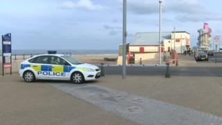 Police car at Redcar seafront