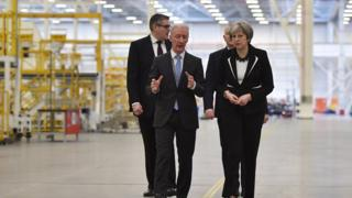 Theresa May visited Bombardier's Belfast plant