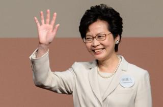 林鄭月娥在3月26日獲選成為香港第一位女特首。