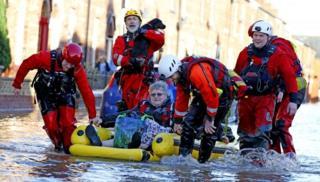 Rescue workers in Cumbria