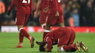 Mohamed Salah na sujjadar godiya ga Allah bayan ya ci kwallo