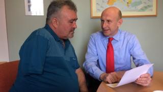 MP John Healey and Adrian Barrass