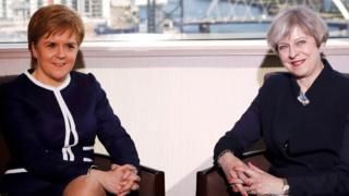 特里莎·梅与苏格兰首席部长妮可拉·斯特金