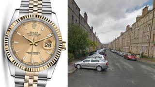 Rolex watch and Wardlaw Place
