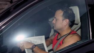 Leo Varadkar arrives for an emergency cabinet meeting