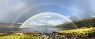 Double rainbow near Salen