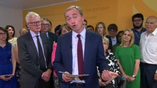 Tim Farron speaking