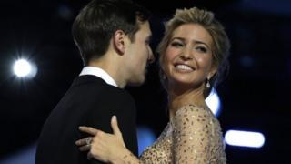 Ivanka Trump with her husband Jared Kushner