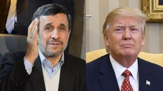 ترامپ و احمدی نژاد