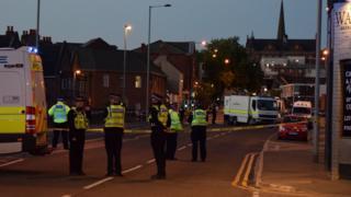 Police presence in Wakefield city centre