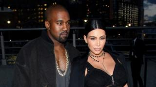 Kim Kardashian na mumewe Kanye West
