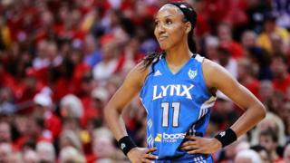 Candice Wiggins of the Minnesota Lynx in WNBA Finals in 2012.