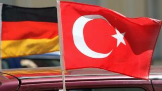 Almanya ve Türkiye bayrakları