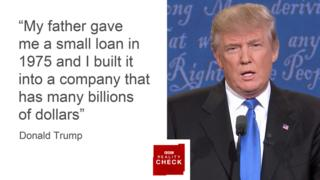 Images Reality Check: First Clinton v Trump presidential debate - BBC News 3