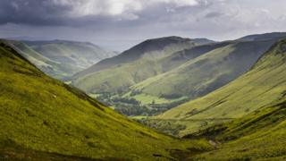 Bwlch y Groes upland pass, Snowdonia National Park