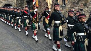Soldiers from the Royal Regiment of Scotland