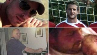 (clockwise from top left) Daniel Hazelton, Adam Taylor, Thomas Hazelton, Peter Johnson