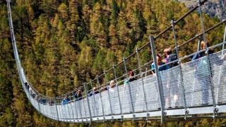 hanging bridge in Zermatt