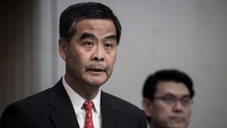 Hong Kong Chief Executive Leung Chun-ying answers questions during a press conference in Hong Kong on 4 January