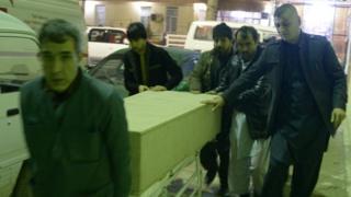 гроб с телом погибшего
