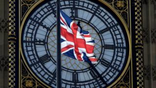 英国国旗和大本钟