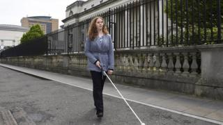 Joanna Toner pictured outside the High Court in Belfast