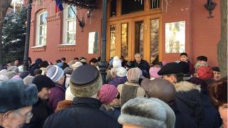 Акция протеста у астраханского парламента