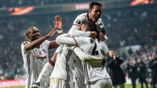 Beşiktaşlı oyuncuların gol sevinci