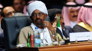 Sudanese President Omar al-Bashir attends the Arab League summit in Egypt's Red Sea resort of Sharm El-Sheikh on 28 March, 2015.