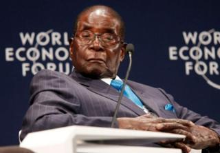 Bw Mugabe akiwa mkutanoni Afrika Kusini wiki iliyopita