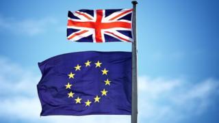 歐盟旗與英國旗