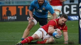 George North try
