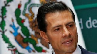 Mexico's President Enrique Pena Nieto during the promulgation of the anti-corruption laws Mexico July 18, 2016