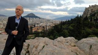 John Humphrys in Athens
