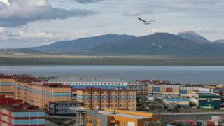 View of the town of Anadyr, in Russia's remote Chukotka region.