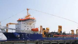 中國的疏浚船