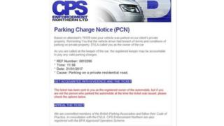 The parking charge notice scam has been highlighted by the PSNI