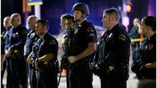 Policiais em Dallas