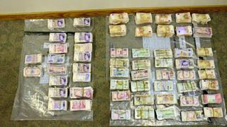 Police said the money was uncovered in the cab of the lorry
