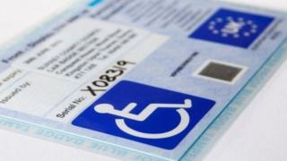 Picture of a blue badge