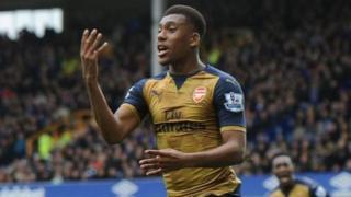 Umukinyi w'imbere wa Arsenal Alex Iwobi